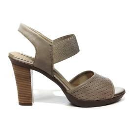 Geox sandal woman with high heel sand color article D821VC 000LS C5004 JADALIS D C