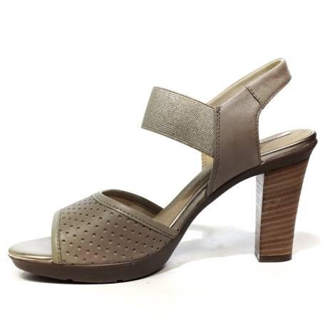 Geox sandalo donna con tacco alto color sabbia articolo