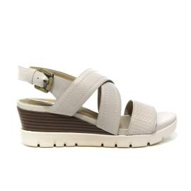 Geox sandal woman with wedge medium high color dirty white article D828AB 06R43 C1002 D MARYKARMEN P.B