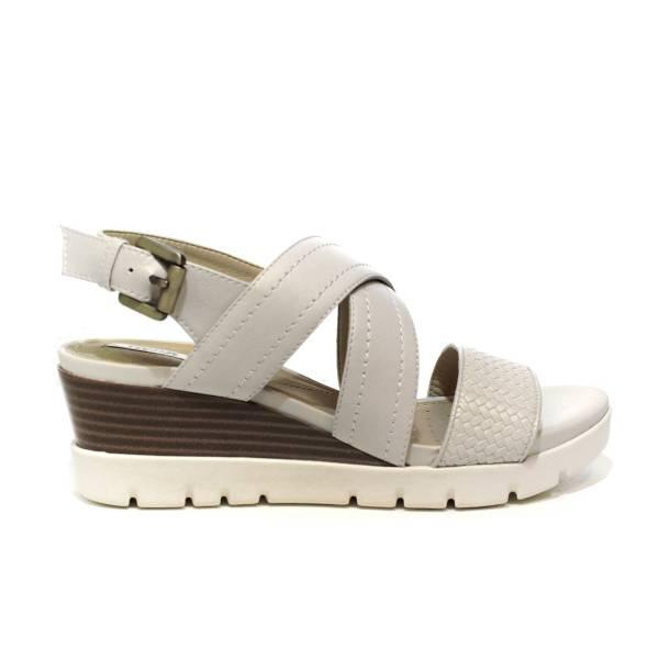 Geox sandalo donna con zeppa medio alta color bianco sporco articolo D828AB 06R43 C1002 D MARYKARMEN P.B