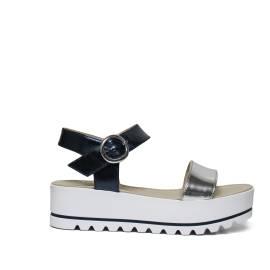 Nero Giardini P805870D 201 ARGENTO sandalo donna