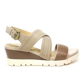Geox sandalo donna con zeppa medio alta color sabbia/beige articolo D828AB 06R43 C0135 D MARYKARMEN P.B
