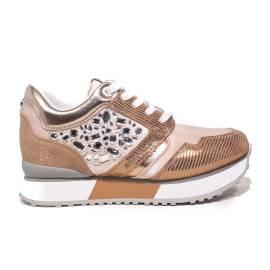 Apepazza sneaker con pietre nel lato color cipria articolo RSD11/DIAMONDS RAPHAELLE