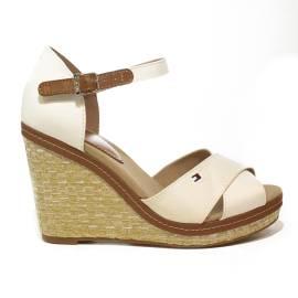 Tommy Hilfiger FW0FW02652/121 sandalo donna con zeppa alta colore bianco