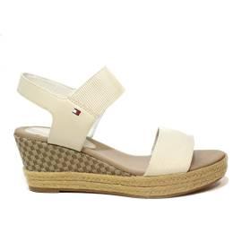 Tommy Hilfiger FW0FW02829/121 sandalo donna con zeppa alta colore bianco