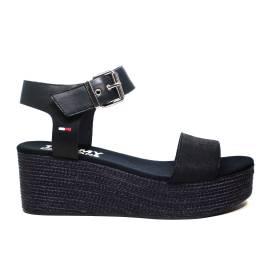 Tommy Hilfiger EN0EN00221/403 sandalo donna con zeppa media colore blu notte