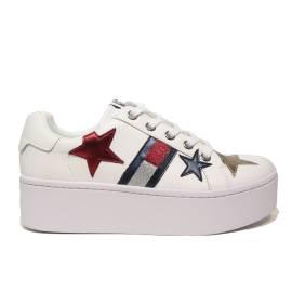 Tommy Hilfiger EN0EN00160/100 sneaker donna con zeppa colore bianco