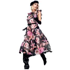 EDAS LUXURY GRITTO MULTICOLOURED WOMAN DRESS