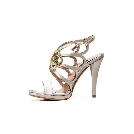 6fb317885131 Albano 2037 RASO LATTICIATO BEIGE women s jeweled sandal with applications