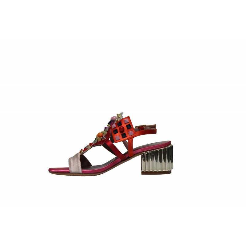 Applicazioni Sandalo Con 3948 Raso Albano Gioiello Donna Cipria Colorate 354cjLARq