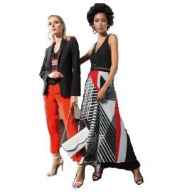 EDAS Luxury Seone long dress with geometric print
