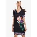 Desigual 19SWVWAP 2000 VEST_BARTA short dress with floral print