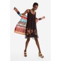 Desigual 19SWVWBX 2000 VEST_JULIE short dress with crossed panel