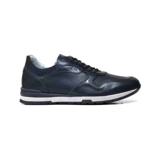 Nero Giardini sneaker da uomo in pelle colore blu P900800U 200