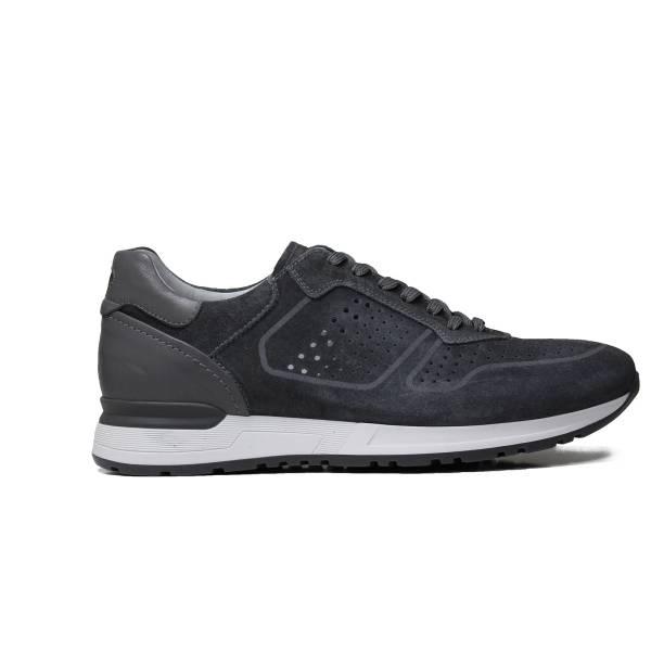 Nero Giardini sneaker da uomo in camoscio colore grigio articolo P900832U 214