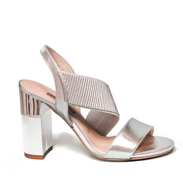 Albano sandalo gioiello donna con tacco alto color argento modello 2202 85AB5
