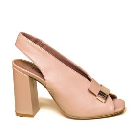 Albano sandalo donna con tacco alto color nudo cipria modello 2225 TR90