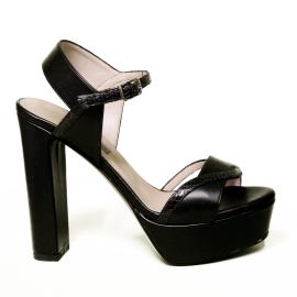 Albano sandalo donna con tacco alto colore nero modello 2048 GIO12