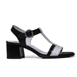 Nero Giardini sandalo con tacco medio colori nero e bianco modello P908200D 100
