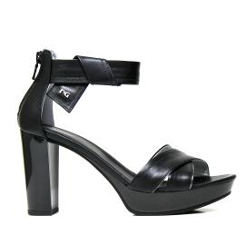 Nero Giardini sandalo con tacco alto colore nero e modello P908080D 100