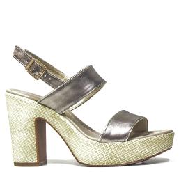 Nero Giardini sandalo con tacco alto colore bronzo e modello P908122D 312