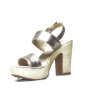 Nero Giardini sandal with high heel bronze color and model P908122D 312
