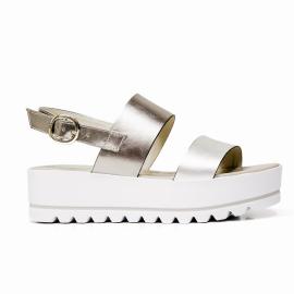 Nero Giardini sandalo con tacco medio colore platino-bronzo e modello P908323D 415