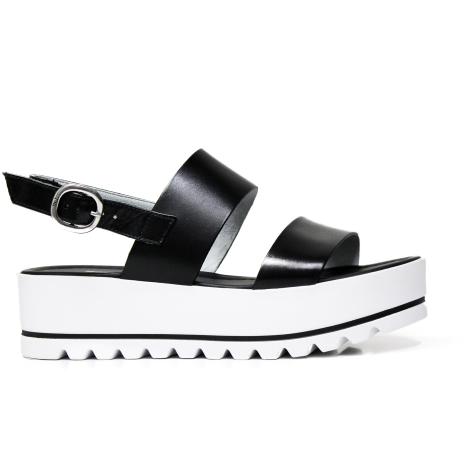 Nero Giardini sandal woman colors black and white model P908322D 100