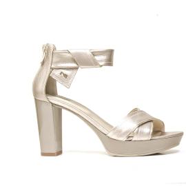 Nero Giardini sandalo con tacco alto colore bronzo e modello P908080D 672