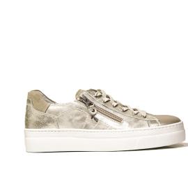 Nero Giardini women's sneaker in pearly beige leather article P907815D 505