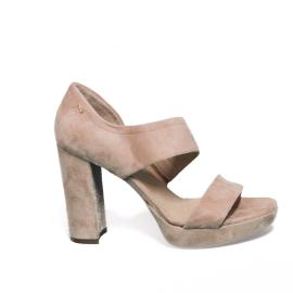 Nero Giardini sandalo donna elegante con tacco alto in camoscio color cipria modello P908485DE 660