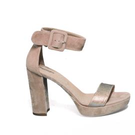 Nero Giardini sandalo donna con tacco alto in camoscio color cipria modello P908274D 660