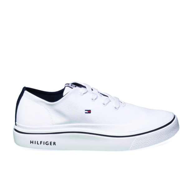 Tommy Hilfiger sneaker man in white color with laces model FM0FM02059 121