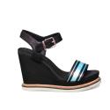 Tommy Hilfiger sandalo con zeppa alta di colore nero FW0FW03823 990