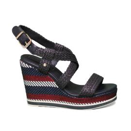 Sandalo Di Tommt Alta 403 Con Hilfiger Zeppa Colore Blu Fw0fw03942 8n0wOPk