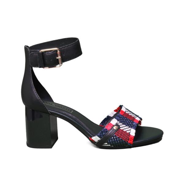 Tommy Hilfiger sandalo con zeppa alta di colore blu FW0FW03948 403