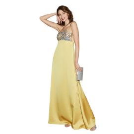 Nadine Vela 5 giallo abito lungo