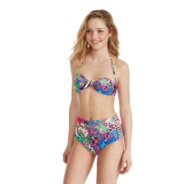 PROMISE ART: BANDEAU bikini a Fascia Multicolor con slip S4281