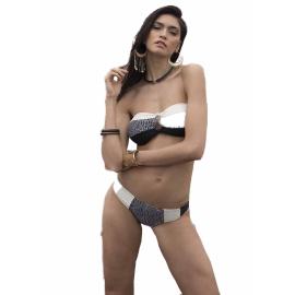 Ysabel Mora Swimwear Nero e bianco con relleno 81068