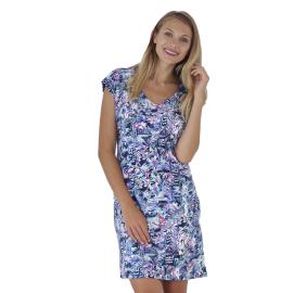Massana Homewear vestito donna colore blu con fantasia astratta a maniche corte Art.E197213