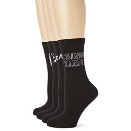Calvin Klein socks mid-calf length F18CKW-ST6-00and Women's 4 pairs, Crew Socks