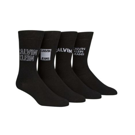 Calvin Klein socks in mid-calf S19CKJM-ST2-00AND MEN'S 4 pairs, Crew Socks