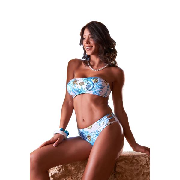 Bikini a fascia feretto bianco Dolcemare 2044