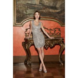 Nadine Dress Valente Short Dress Silver