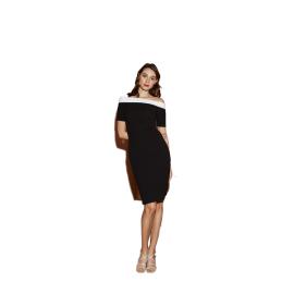 Nadine tisane N/B Short Dress Black