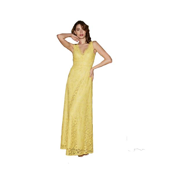 Nadine long yellow dress article Valetta/8