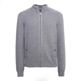Nero Giardini bomber uomo di colore grigio con zip A974540U 105