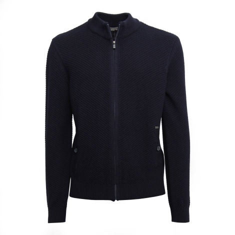 Nero Giardini bomber man blue color with adjustable zip article A974540U 200