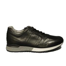 Nero Giardini sneaker uomo con fondo bicolore in pelle di colore nero articolo A901190U 100