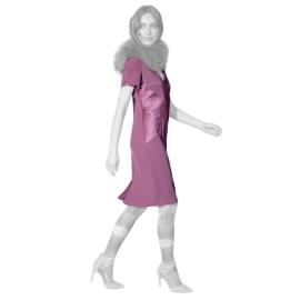 Edas dressed woman short-sleeve color onion Climac model